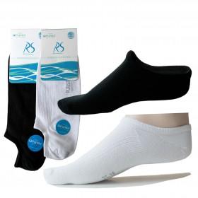 10 Paar Antibakterielle offene Füßlinge Socken für Damen & Herren schwarz weiss