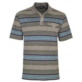 Herren Premium Poloshirts mit kurzer Knopfleiste