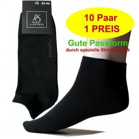 10 Paar ATHLETIC Herren Sneakersocken Kurzsocken im modernen Schwarz