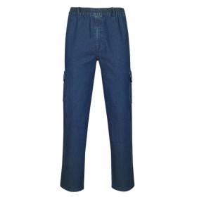 T-MODE Herren Jeans Stretch Schlupfhose, Gummizughosen Sommer Kollektion