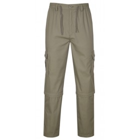 Herren Cargo Hose Zip Off, 2 in 1 Outdoorhose Sommer Freizeithose Baumwoll-Mix