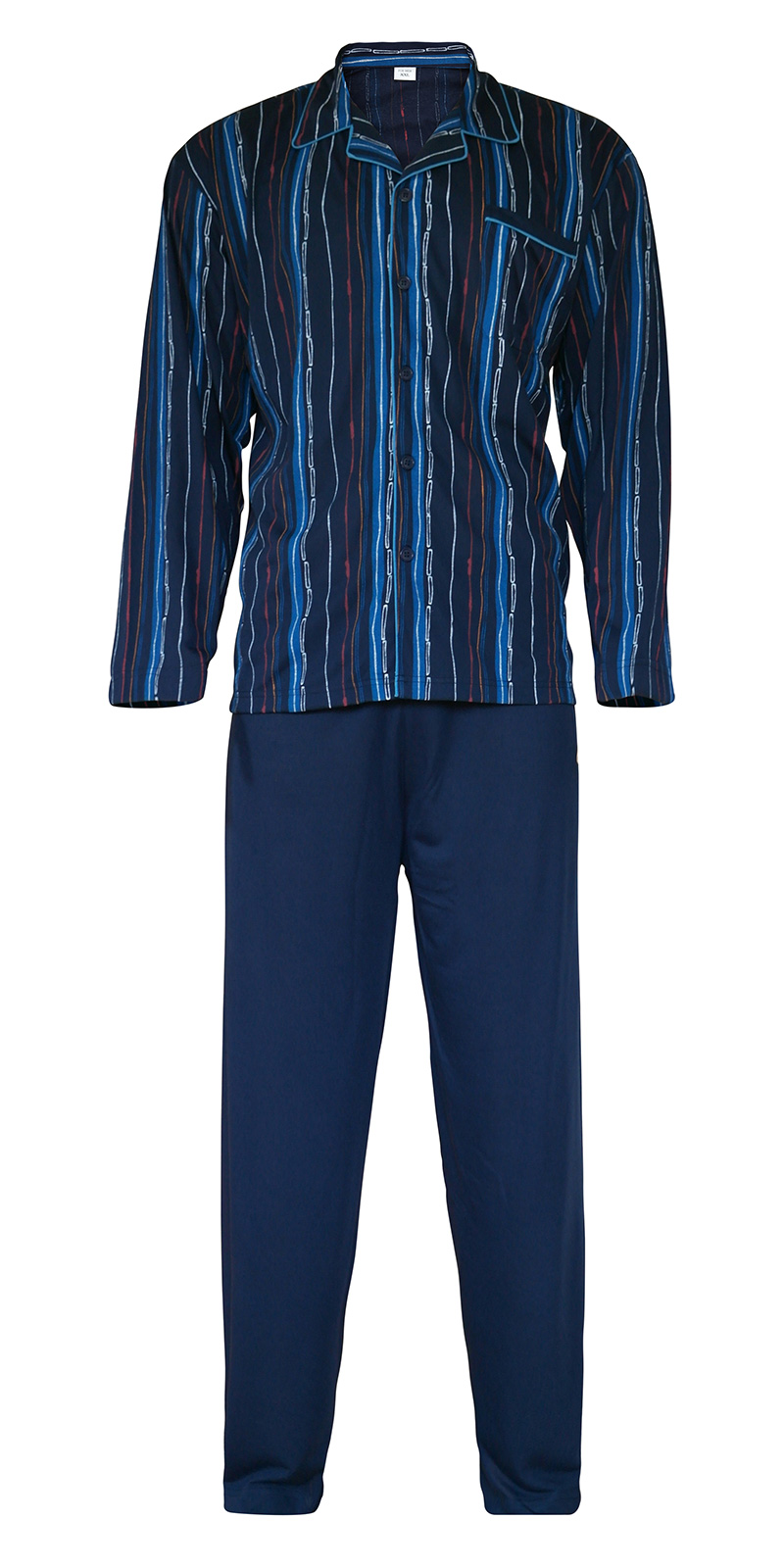 herren schlafanzug pyjama lang nachtw sche 100 baumwolle men 39 s pajamas at mian. Black Bedroom Furniture Sets. Home Design Ideas
