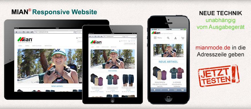 Mian Store - Ein Onlineshop für alle Endgeräte